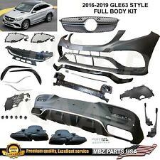 GLE63 Coupe full body kit bumper muffler tips diffuser GLE 2015 2016 2017 2018