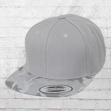 Yupoong Classic Snapback Camo Visor Cap grau Kappe Mütze Haube Basecap Capi Hat