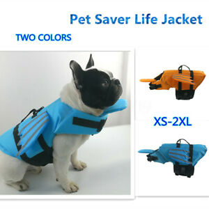 Dog Poppy Pet Life Jacket Dog Flotation Saver Safety Vest Reflective
