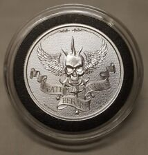 2oz Silver Skull Coin Death Before Dishonor USMC Military Silver Round Coin