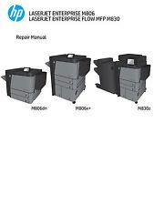 HP LaserJet Enterprise M806 / FLOW MFP M830 Service Manual(Parts & Diagrams)