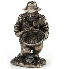 "3.25"" The Gold Panner Statue Sculpture Figure Figurine Home Decor"