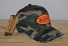 Von Dutch Cap Camo used orange Patch Truckercap army camouflage NEU Basecap van