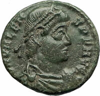 VALENS 364AD Genuine Authentic Ancient Roman Coin Victory Nike Angel i77099