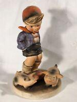 "Goebel Hummel Figurine TMK3 #66 ""Farm Boy"" (With Pigs) 5.50"" Tall B"