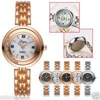 LVPAI Women Crystal Stainless Steel Luxury Quartz Ladies Dress Wrist Watches New