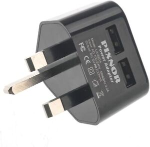5V/2A UK-plug Dual USB Output AC Power Adapter Wall Charger (Black)