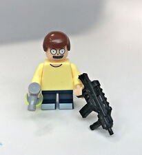 Rick & Morty Custom Lego Print Weaponized Morty Smith figure with weapons