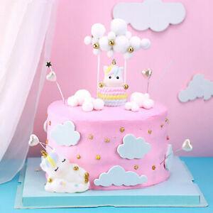 Unicorn Rainbow Cloud Cake Toppers Birthday Wedding Party Cupcake Dessert Decor