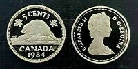 Canada 1984 Proof Gem UNC Five Cent Nickel!!