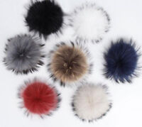 New Cute Ball Fur PomPom Charm Pompon +Press Button Removable Clothing Accessory