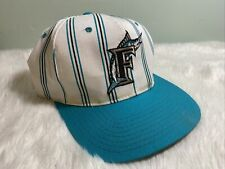 New listing RARE VINTAGE STARTER FLORIDA MARLINS MLB PIN STRIPE SNAPBACK CAP