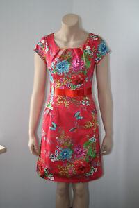 Lien & Giel, Sommerkleid, rot, geblümt, Kurzarm