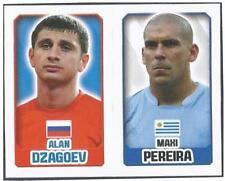 TOPPS ENGLAND 2014- #191-369-RUSSIA-ALAN DZAGOEV-URUGUAY-MAXI PEREIRA