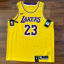 Nike Lebron James icono Swingman para hombre Jersey Los Angeles Lakers la 52 XL