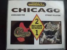 CHICAGO  -  STREET  PLAYER  +  VIII (8) ,   2 CD SET  FATBOX 1989 ,  ROCK, POP