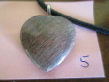 Arizona Petrified Wood - 25 mm (1 inch) Heart Cabochon Pendant with Necklace