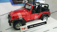 MAISTO 1:18 Scale Special Edition - Jeep Wrangler Rubicon - Red- Diecast Model