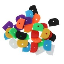 10 x KEY RING CAP CAPS COVERS TAGS ID MARKERS IDENTIFIERS KEYRING MIXED COLOURS