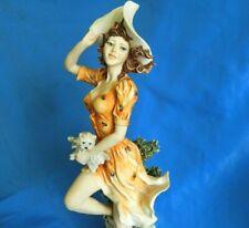 """Giuseppe Armani Figurine Original #0234C Autumn Falling Leaves Florence 16"""""""