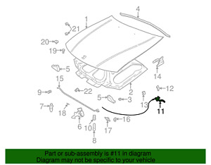 GENUINE GM 22675776 Hood Latch Release Cable/Handle Assembly 2000-2002 L,LS,LW