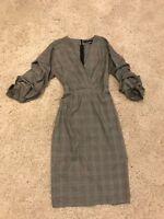 Zara Kleid NEU Etuikleid Businesskleid grau schwarz Größe S / 36