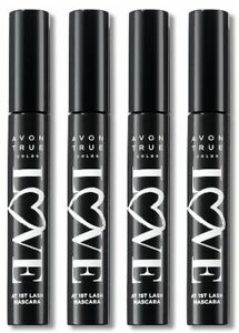 Lot of 4 Avon True Color Love at 1st Lash Mascara 9ml (.3 fl oz) Blackest Black