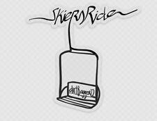 """Skiers Ride"" Ski Lift Sticker, Dirtbagger 22 Designs"