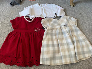mayoral dresses age 12m and cardigan