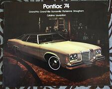PONTIAC GRAND PRIX PARISIENNE 1974 brochure catalog - French - Canadian Market
