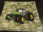 NWOT Hand towel~Fingertip JOHN DEERE Camouflage TRACTOR Camo Green Yellow FARMER