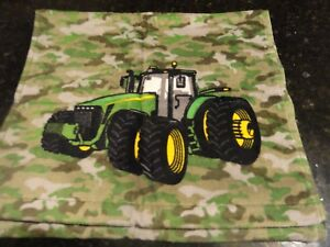 100/% Cotton Washcloths Farm ~Gift NEW Set of 6 John Deere Tractor Wash Cloths