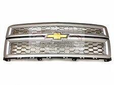 2014 2015 Chevrolet Silverado 1500 Grille Silver w/ Chrome Mesh New