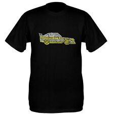 Audi Quattro Word Art  Rally T Shirt