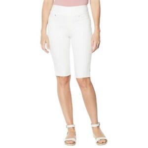 DG2 by Diane Gilman Women's Classic Stretch Pull-On Bermuda Short Ivory P1X Size