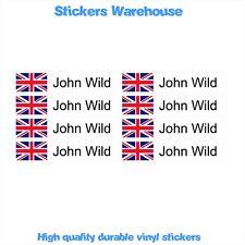 8 Medium CYCLE BIKE FRAME HELMET Personalised name Decal Vinyl Durable Stickers