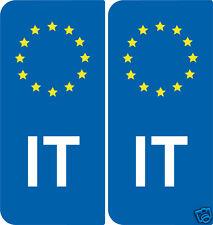 2 Stickers style immatriculation Europe Repubblica italiana Italie