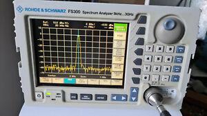 Rohde Schwarz FS300 Spectrum analyzer 9khz to 3Ghz