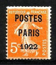 France PREOBLITERES n° 30  neuf ★★ luxe 1920