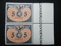 Germany Nazi 1940 Stamps MNH Swastika Eagle Generalgouvernement WWII Third Reich