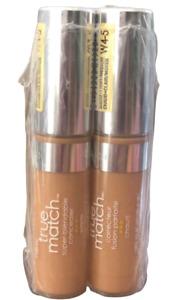 2X L'Oreal True Match Super-Blendable Concealer light/medium W4-5 0.17 fl oz