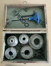 5 Lathe Collet Chuck Set 12 34 1 1 14 1 12 Inch In Wood Box 4 Aluminum Jaws