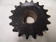"MARTIN D120B18 SPROCKET DOUBLE ROW 18 TOOTH STEEL USE 3-1/8 BORE FOR B HUB ""NEW"""