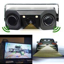 3 in 1 New Car Rear View Camera + Backup Parking Sensor+Beeper Universal