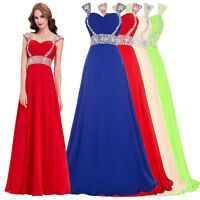 Women Long Evening Bridesmaid Wedding Dress Prom Party Cocktail Formal Ball Gown
