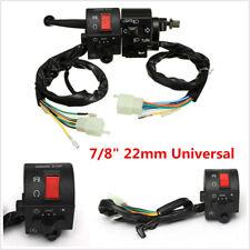 "12V Universal Motorcycle 7/8"" Handlebar Horn Turn Signal Electrical Start Switch"