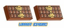 LEGO Decorated Tile - Chocolate Bar x2 - Candy Confectionery FREE POST