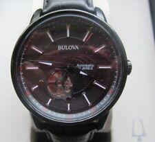 BULOVA Herrenarmbanduhr mit Lederband - Automatik - 98A139
