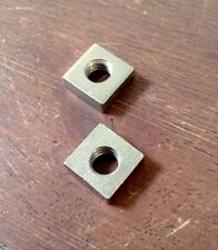 Vintage Ludwig Square Nut Pair - Nickel - Made in USA