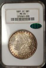 1881 CARSON CITY MORGAN DOLLAR - NGC - CAC CERTIFIED - MS 64 - #270061-008